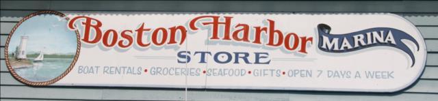 Boston Harbor store sign