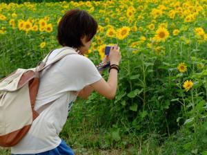 Sanae out Camerawalking