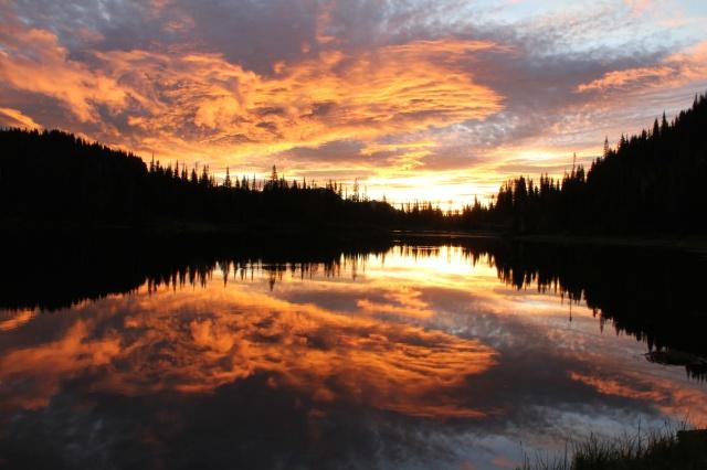 Sunrise on Mount Rainier