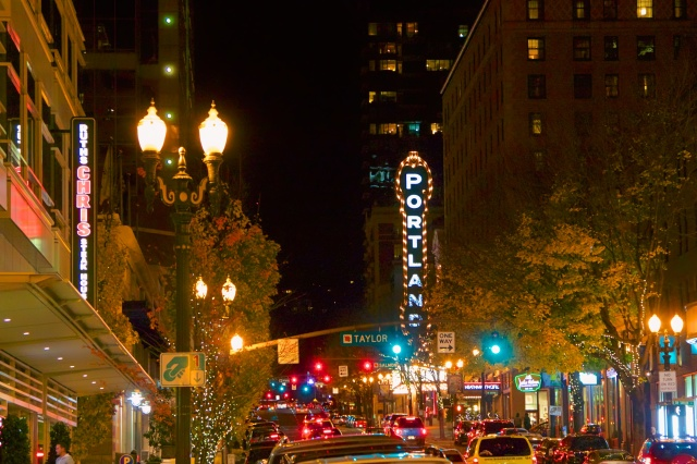 Portland by night is charming.