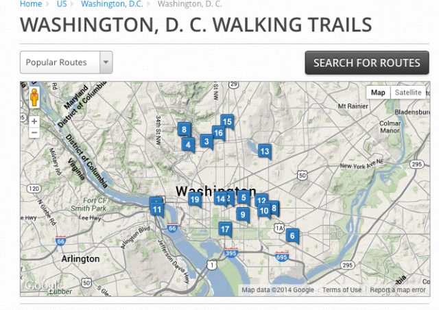 MapMyWalk - Washington, D.C.