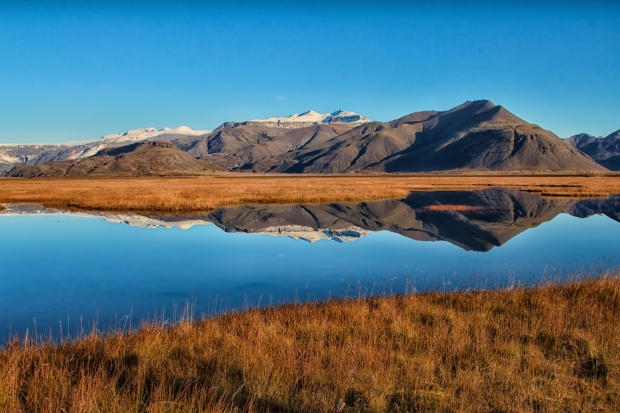 Mountain Reflection in Iceland