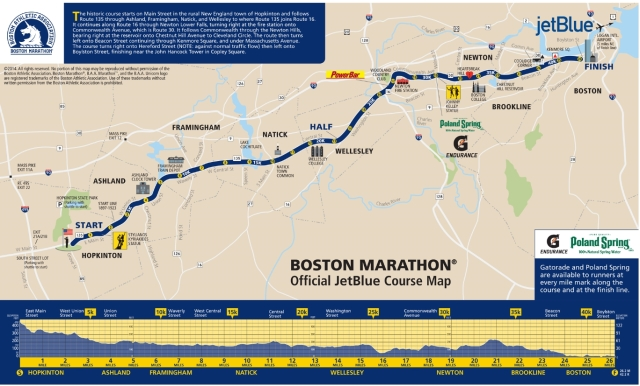 route map Boston Marathon