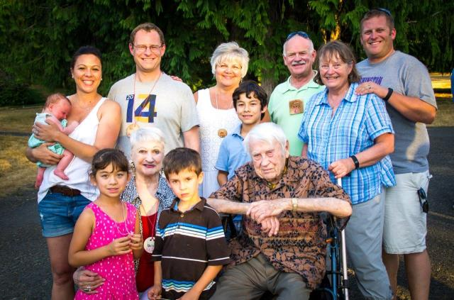 Four Generations... from 5 months to 99 years old!