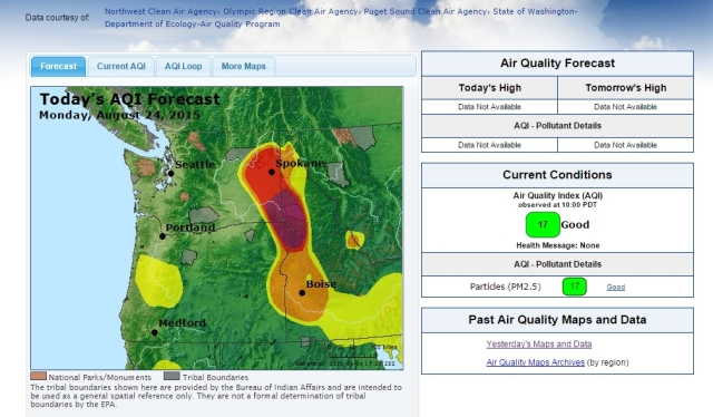 Monday, August 24 Air Quality