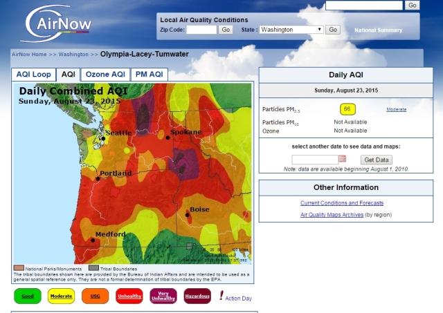 Sunday, August 23 Air Quality