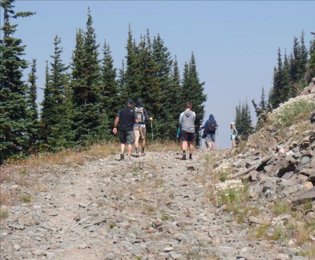 Trail w people